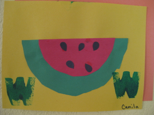 Letter W Preschool Craft